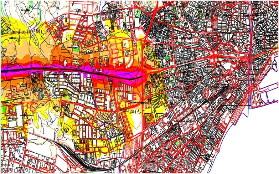mapas de ruido de málaga